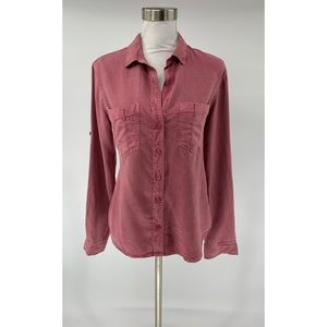 Cloth & Stone Anthropologie Button Up Shirt Mauve